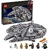 LEGO 75257 Star Wars Faucon Millenium, Set de Construction avec Finn, Chewbacca, Lando, C-3PO, R2-D2, Collection de L'Ascensi