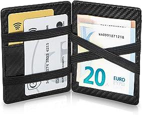 GenTo Magic Wallet Monte Carlo - Carbon-Optik - mit Münzfach und RFID Schutz mit TÜV - Kleine magische Geldbörse - Innovatives Geschenk für Herren - mit Geschenkbox | Design Germany