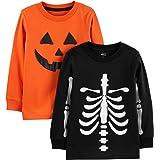Simple Joys by Carter's 2-Pack Halloween Long-Sleeve Tees Bebé-Niños