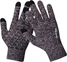Knit Gloves,Anqier Windproof Touchscreen Warm Hand Gloves for Men & Women