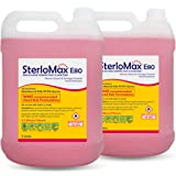 SterloMax 80% Ethanol-based Hand Rub Sanitizer and Disinfectant, 5 L, Pack of 2