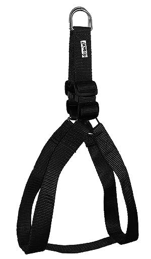 Petshop7 Nylon Dog Harness 1 Inch - Black (Chest Size : 24-29 Inch) - Medium