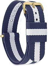 MOMENTO Damen Herren NATO Nylon Uhren-Armband Ersatz-Armband