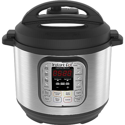 Instant Pot IP-DUO60 Pentola elettrica a pressione, programmabile, 7-in-1, 5.7 litri, 1000W, acciaio inox - versione inglese