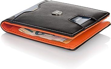 Premium Geldbörse mit Geldklammer und Münzfach – Schlanker Geldbeutel 6 Kartenfächer – Portemonnaie Herren – Kreditkartenetui RFID – Slim-Wallet Geldtasche