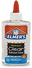 Elmer's Washable No-Run School Glue, 5 oz Bottle, Clear (E305)