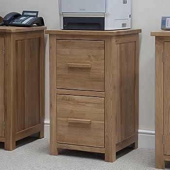 eton solid oak furniture two drawer office computer filing cabinet