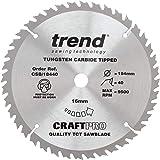 Trend CSB/18440 Craft Pro trimming-cirkelsågar, TCT-blad, perfekt för DeWalt, Einljus, draper, och BaUKer cirkelsågar, volfra