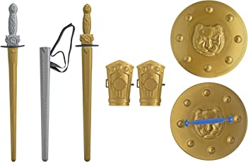 Ratna's Mighty Sword Set for Kids 1 Premium Quality Sword, 1 Cover, Waist Belt,2 Arm Guards and 1 Guard