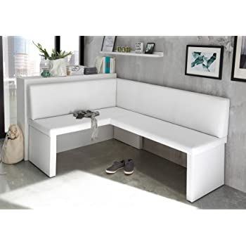 Table A Manger Rectangulaire Liberty Blanc Brillant Banc D Angle