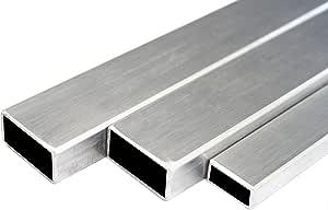 Edelstahl Rechteckrohr Vierkantrohr Konstruktionsrohr V2A Blank 40x20x2mm 1500mm