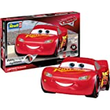 Revell 7813 Disney Cars3, Auto-Bausatz 10 Modellbausatz Lightning McQueen im Maßstab 1:25, Level 2, bunt, 1:24/16,5 cm