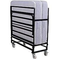Springtek Rollaway Foam and Wrought Iron Metal Folding Single Bed with 6-Inch Contemporary Foam Mattress, Lockable…