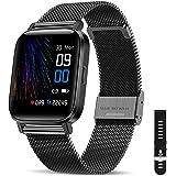 Canmixs Smartwatch Orologio Uomo Donna Impermeabile IP68 Bluetooth Fitness Smart Watch Cardiofrequenzimetro da polso Contapas