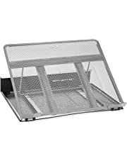 Callas Ventilated Adjustable Laptop Cooling Pad/Stand (Silver)