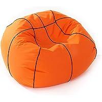 Lumaland Luxury Basketball Sitzsack hochwertiges Sitzkissen aus der Comfortline groß