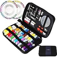 TUXWANG Kit Couture Kit de Couture avec Accessoires de Couture Premium 130pcs avec étui de Transport, 24 bobines de Fil…