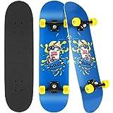 """Hikole 31 """"x 8"""" Completo Skateboard per Principianti, Adatto a Bambini, Adolescenti, Principianti e Professionisti, 7 Strati"""