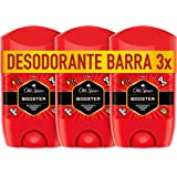 Old Spice Booster Antitranspirante Y Desodorante En Barra para Hombres 3 x 50 ml (Total 150 ml)