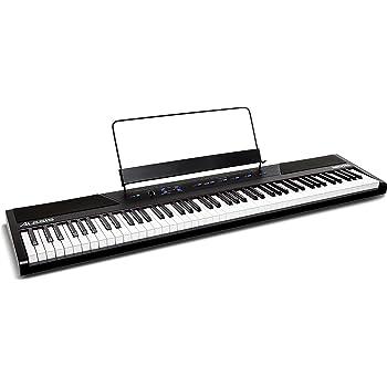 Alesis Recital - 88-Tasten Einsteiger Digital Piano / Keyboard mit vollwertigen halbgewichteten Tasten, Netzteil, eingebauten Lautsprechern und 5 Premium-Stimmen (Amazon exklusiv)