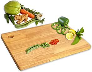 "Svt Vegetables, Fruits, Bread, Meat, And Cheese Wooden Chopping & Cutting Board (33X23X1.2cm - 13""X9""X0.5""Inch)"