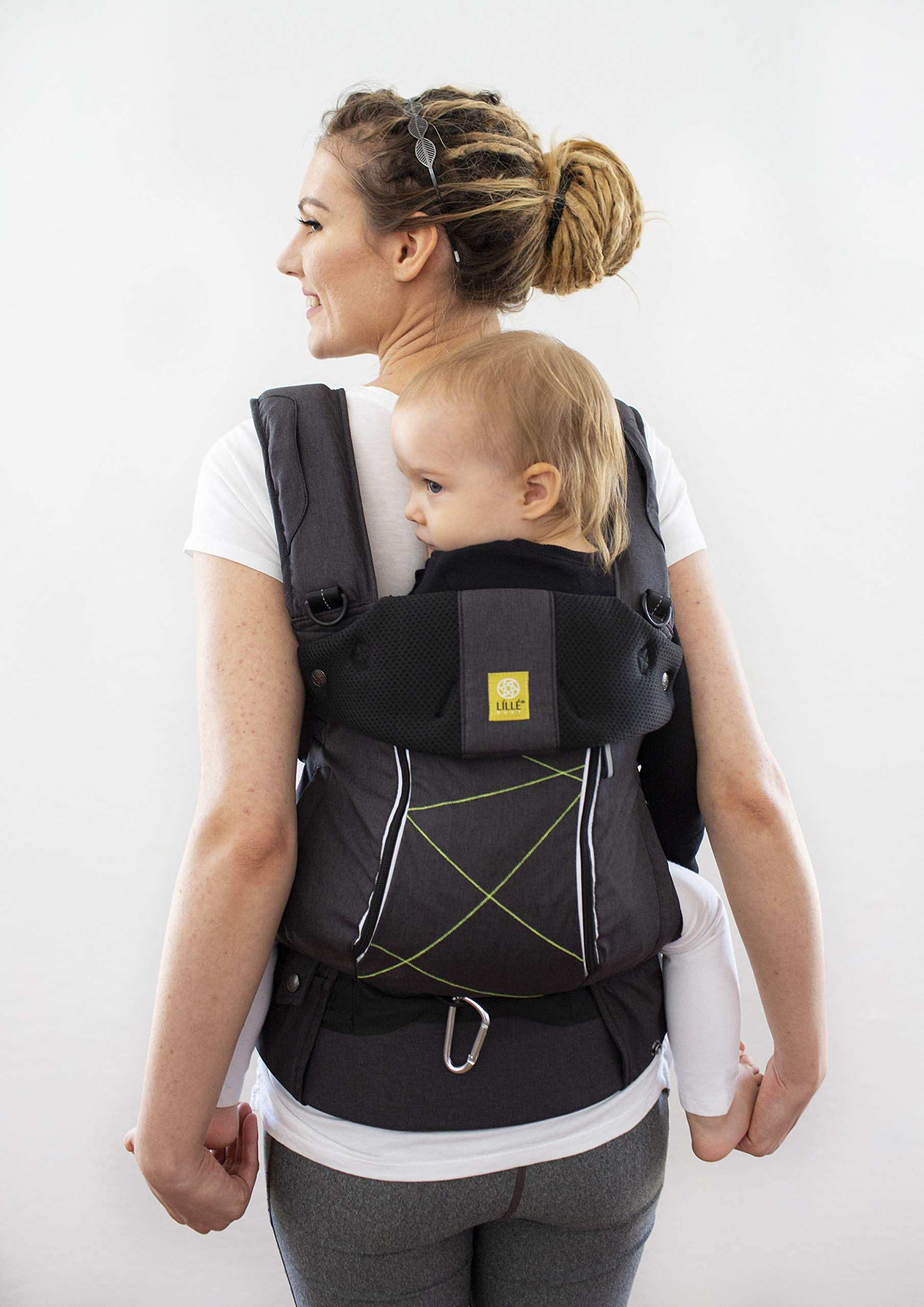 LÍLLÉbaby  Complete Pursuit All Seasons 6-in-1 Baby Carrier, Graphite Lillebaby Designed specifically for parents on the go, our pusuit series combines the comfort and functionality of our 6 in 1 design with adventure-ready features to help you show your little one the world Suitable from 3.2- 20kg extended comfortable use for parent and child with no additional infant support required for new-borns Unique líllébaby lumbar support for the wearer, with wide padded waist belt and shoulder straps 3