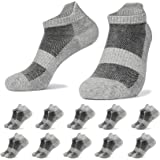 PAUNEW Calcetines Tobilleros 10 Pares Hombre Mujer Deportivos Cortos Calcetin Algodon Running para Correr
