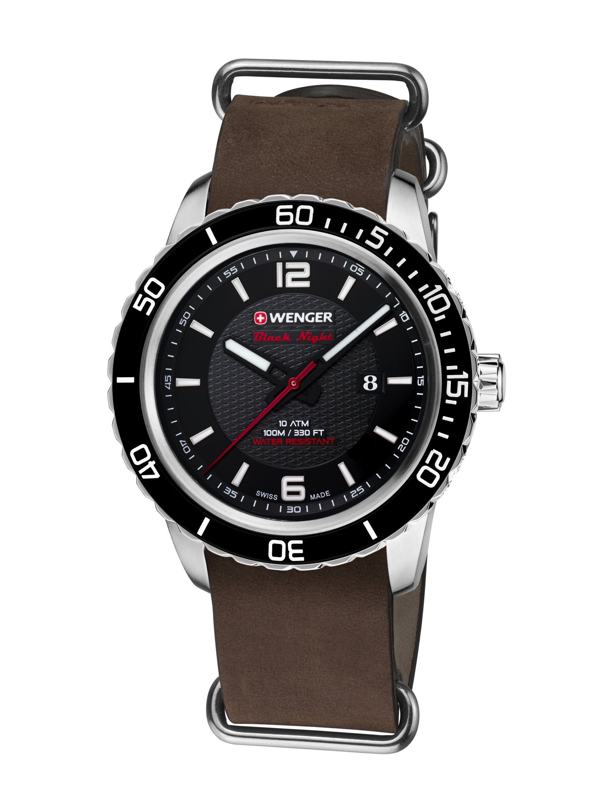 Wenger Unisex Analogue Quartz Watch with Leather Strap 01.0851.121