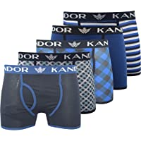Kandor Mens Boxer Shorts (Pack of 5) Colorful Multi-Packed Underwear, Breathable Mens Boxers Trunks