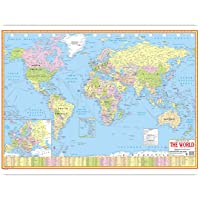 World Political Map-English Language(70 X 100 CMS)|Laminated Both Sides With Double Sided Tape|Geography Studies|Premium…