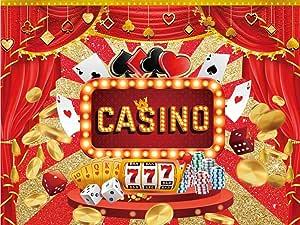Casino Happy Birthday Kulissen Partyzubehör Banner Kamera