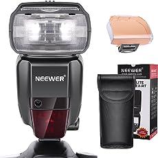 Neewer Flash Speedlite Wireless Master Slave 2,4G HSS 1/8000s TTL GN60 per Reflex Digitali Canon 7D Mark II, 5D Mark II III IV, 1300D, 1200D, 750D, 700D, 600D, 80D e Così Via (NW600EX-RT)