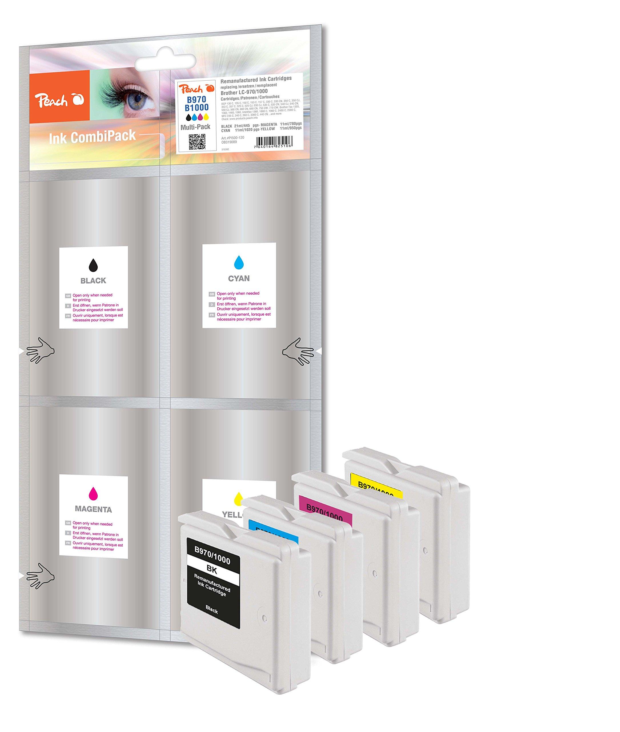 Peach PI500-120 ink cartridge - ink cartridges (Black, Cyan, Yellow, Magenta, High, LC-1000, LC-970
