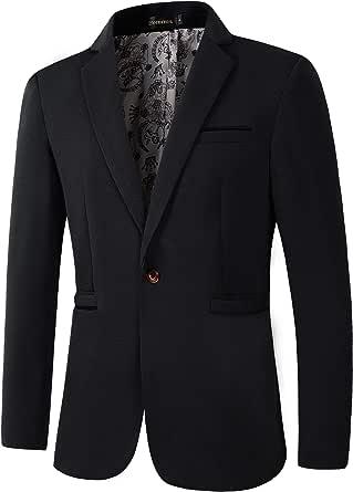 Benibos Men's Slim Fit Casual 1 Button Blazer Jacket