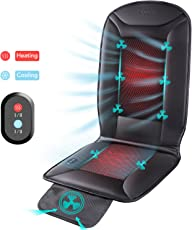 Naipo Auto Sitzkissen Beheizbar Sitzauflage mit Heizung- und Kühlungfunktion und 3D mit Belüftungsfunktion Tragbar für Auto Zuhause Büro Stuhl, ganzjährige Benutzung