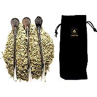 3 Pailles Filtrantes ou Bombillas en Inox Réutilisables pour Yerba Maté, Service à Thé, Infusion, Cocktail, ou Autre. 2…