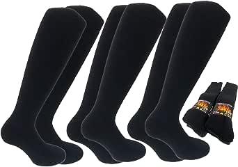 Lucchetti Socks Milano 6 PAIA calze TERMICHE lunghe calzini UOMO lunghi in COTONE FELPATO termico