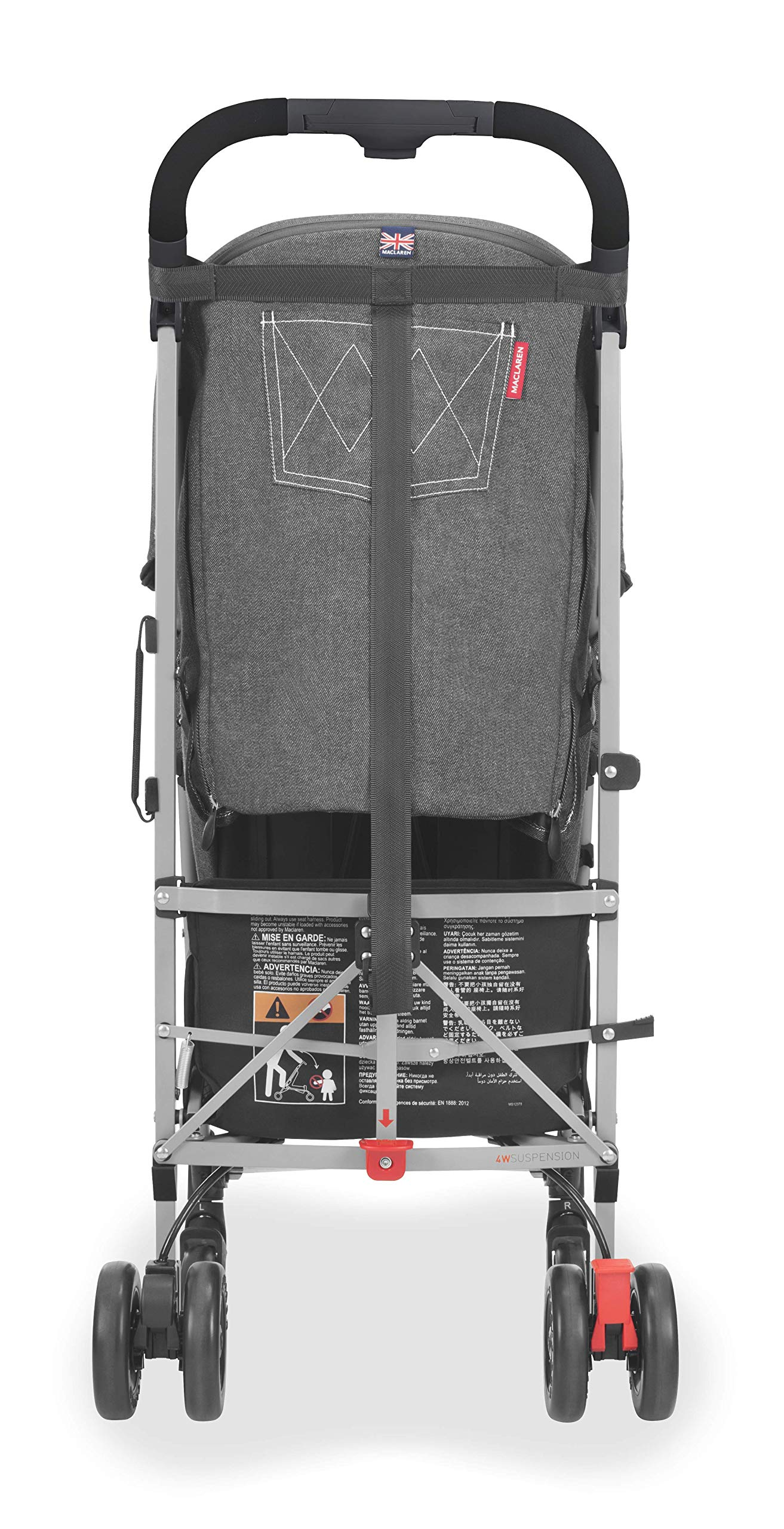 Maclaren Quest Arc Stroller- Ideal for Newborns up to 25kg with extendable UPF 50+/Waterproof Hood, Multi-Position seat and 4-Wheel Suspension. Maclaren Carrycot Compatible. Accessories in The Box Maclaren Lightweight and compact. ideal for newborns and children up to 25kg. you can do it all with one-hand- open, close, push and adjust the seat, footrest and front safety lock Comfy and perfect for travel. the quest arc's padded seat reclines into 4 positions and converts into a new-born safety system. coupled with ultra light flat-free eva tires and all wheel suspension Smart product for active parents. compatible with the maclaren carrycot. all maclaren strollers have waterproof/ upf 50+ hoods to protect from the elements and machine washable seats to keep tidy 10