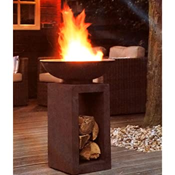 rostrot 61.5 x 61.5 x 53 cm TeproLynnfield Feuerstelle
