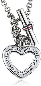 Tommy Hilfiger jewelry 2700277 - Catenina con pendente da donna, acciaio inossidabile e smalto, 491 mm