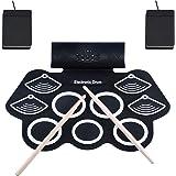 Asmuse Batterie Électronique Drum Set Batterie Musique Portable Roll Up Tambour, Silicones Drum Set, 9 Pads de Batterie Sensi
