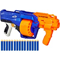 Nerf Surgefire Elite Blaster -- 15-Dart Rotating Drum, Slam Fire, Includes 15 Official Elite Darts -- For Kids, Teens, Adults