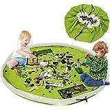 Borsa Per Giocattoli, BELLESTYLE Tela di cotone 150CM Tappetino da gioco per bambini Organizzatore di giocattoli Borsa rapida