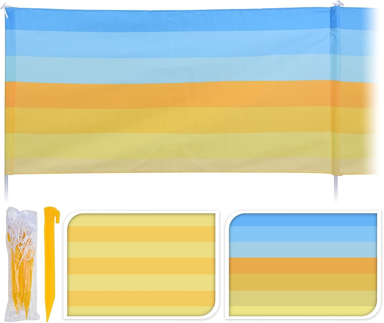 Großer Windschutz Strandsichtschutz 480 x 82 cm Sichtschutz gelb