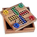 لعبة احجيات من لوجيكا، لعبة لودو باتشيسي، لعبة لوحية من الخشب الناعم - لعبة استراتيجية متعددة اللاعبين - نسخة السفر - مجموعة