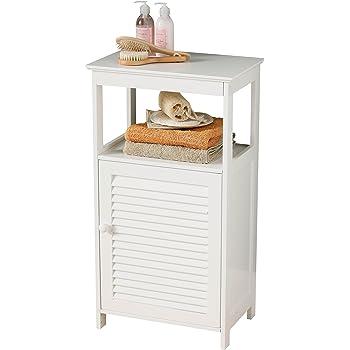 premier housewares freistehendes badezimmer schr nkchen mit einer t r und einem regalboden 83 x. Black Bedroom Furniture Sets. Home Design Ideas
