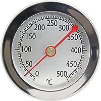Lantelme 4895 Thermomètre de barbecue 500 °C Sonde à clip En acier inoxydable Pour four, four à pizza, four à bois…