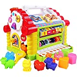Popsugar Baby's Activity Cube Toddler Educational Toy Multipurpose Early Learning Game Play Center, Multicolour