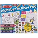 Melissa & Doug Alphabet Activity Sticker Pad for Coloring, Letters