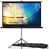 PropVue Ekran projektora ze stojakiem 152 cm – wewnętrzny i zewnętrzny ekran projekcyjny do prezentacji filmu lub biura – ekr
